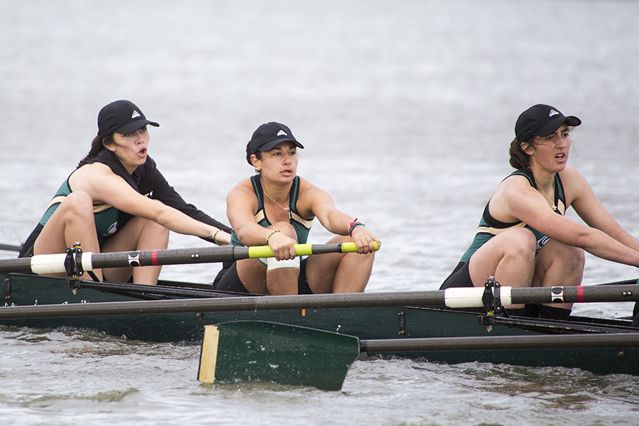 Members of the Sac State Rowing team compete at the Sacramento State Regatta at Lake Natoma on Saturday, March 12.