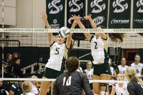 Sac State volleyball sweeps visiting Grizzlies, 3-0