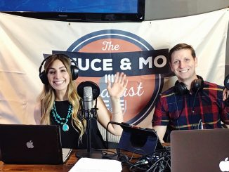 """Former Sacramento State students Morgan Ragan and Dave Mason put their love for sports into a podcast called """"The Deuce and Mo Podcast."""" Their podcast passed the 100-episode milestone on Sept. 13. (Photo courtesy of Morgan Ragan)"""