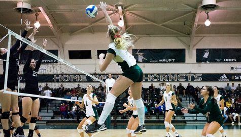 Hornets defeat Portland State 3-1, continue six-game volleyball winning streak
