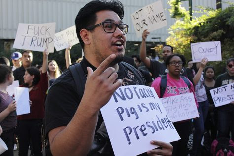 Trump win leads to student protests at Sac State, nationwide