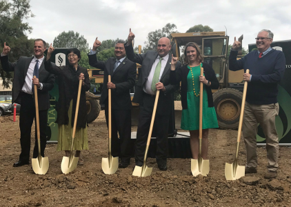 Groundbreaking ceremony celebrates construction of 1,750 additional parking spots