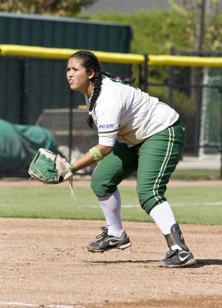 Desiree Beltran profile 1:Desiree Beltran set records as a freshman at Sac State. She led the conference with a .413 mark.:File Photo