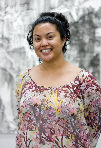 kat luna:Kat Luna, senior art major, won the Witt Award for her untitled painting.:Tina Horton - State Hornet