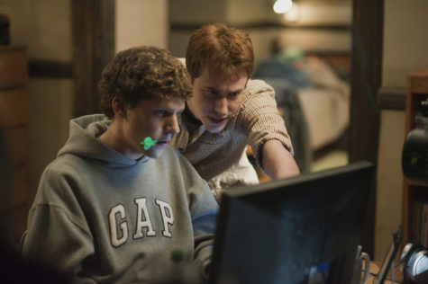 The Social Network MCT:Jesse Eisenberg, left, and Joseph Mazzello in Columbia Pictures'