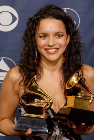 Norah Jones album review 1:Norah Jones, winner for Best Female Pop Vocal Performance and Best Pop Collaboration with Vocals, at the 47th Annual Grammy Awards in Los Angeles, Calif., on February 13, 2005.:McClatchy Tribune