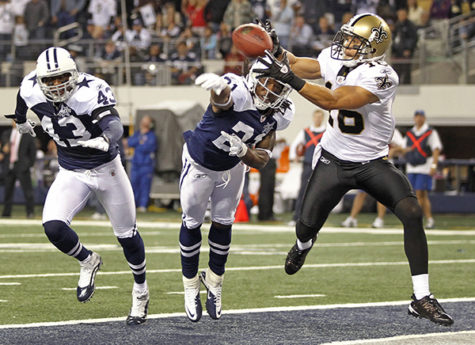 new orleans saints:New Orleans Saints wide receiver catches a ball during a game against the Dallas Cowboys.:Courtesy of McLatchy Tribune