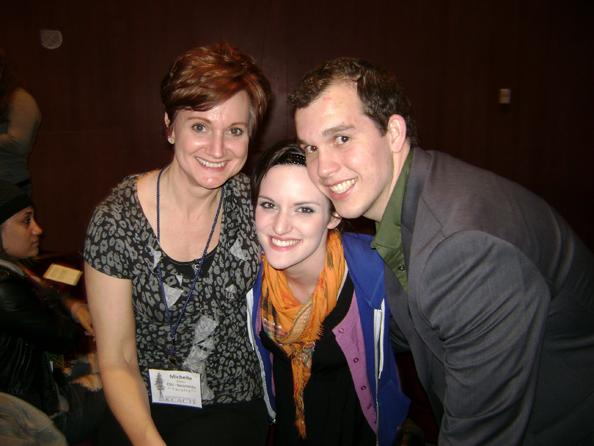 Sac State theater professor Michelle Felton (left) and students Olivia Hughes (middle) and Sean Nill (right) advanced to Nationals after winning the regional round.