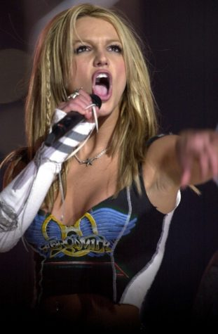 Britney Spears performs during the halftime show at Super Bowl XXXV. (Erik Campos/The State/MCT)