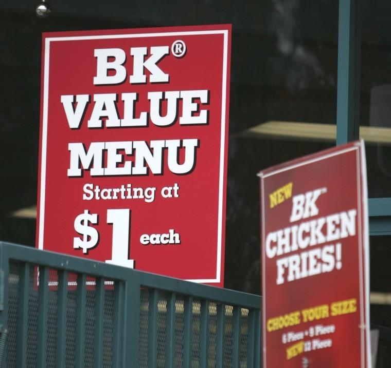 Burger King is testing a value menu in some Southern California stores, including this one in Irvine, California. (Michael Kitada/Orange County Register/KRT)
