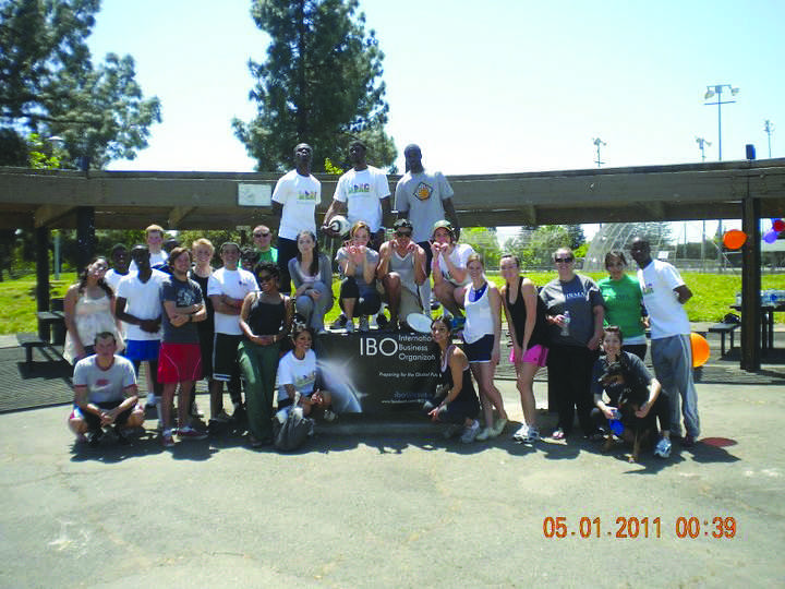 The members of the No-Brainer Foundation pose at a soccer tournament this year.