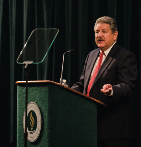 During the 2011 Fall address CSUS President Alexander Gonzalez talked about the university's need to publicize it's success stories, and prepare for the future of education.