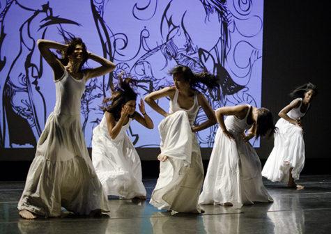 """Dancers perform """"Forgive me,"""" by Windy Kahana."""