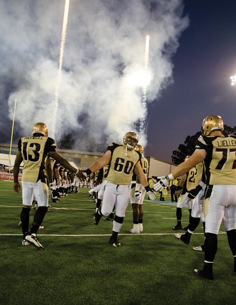 The Mountain Lions take the field Saturday night at the home opener against the Las Vegas Locomotives.