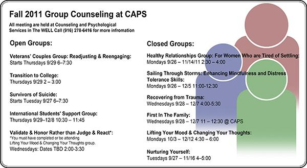 New group of counseling services available at Sac State