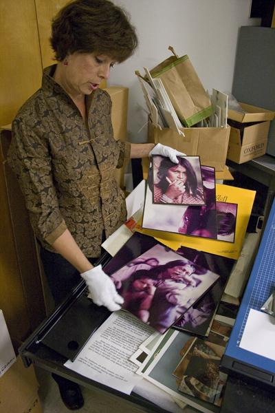 Along with being an anthropology professor, Terri Castaneda is the museum director at Sac State, which entails setting up every exhibit and keeping records of the artifacts it has in storage.