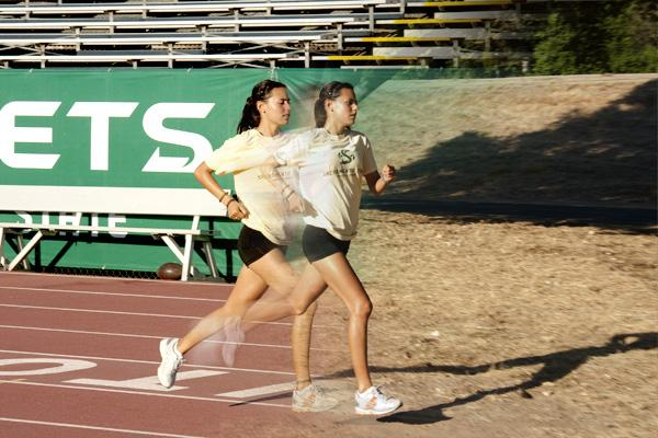 Junior dietetics major Rachel Mitchell trains at Hornet Stadium for track and field, as well as along the river for the cross-country team.