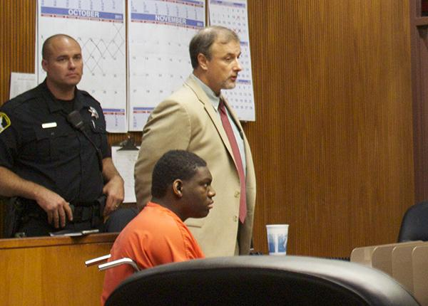 Quran Jones sits in the Sacramento Superior Court during a hearing in October.