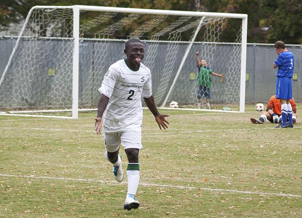 Sophomore forward Isaac Ikyurav scored the game-winning goal with 49 seconds remaining in the overtime period.
