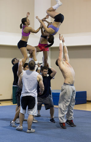 Hornet cheerleaders dispel stereotype as a female sport
