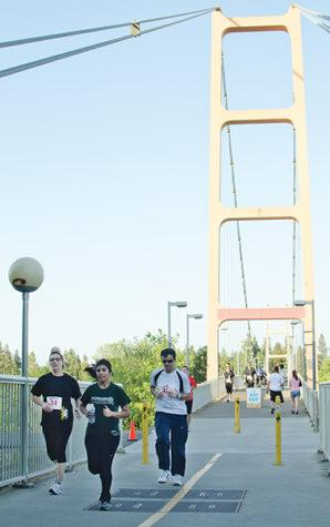 More than 500 students, faculty, staff and alumni participated in the annual Sac State 5K Fun Run on April 28, 2011. The course went through the Guy West Bridge and past the stadium and the Well.