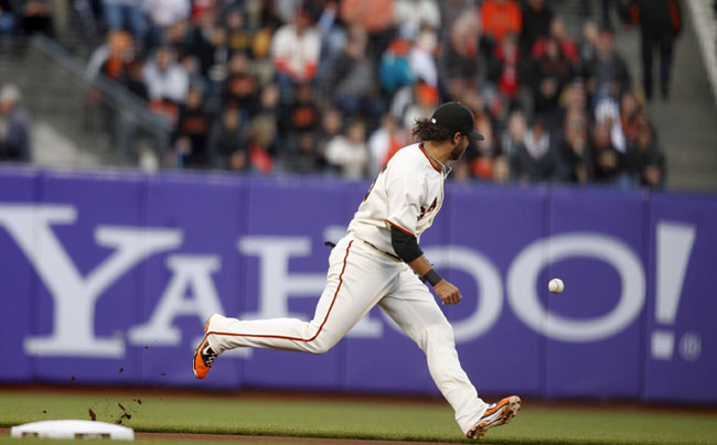 San Francisco Giants starting shortstop Brandon Crawford was supposed to provide solid defense, but has committed six errors this season.