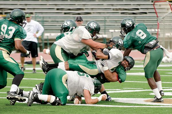 Action of the Hornets' Fall 2012 preseason scrimmage.
