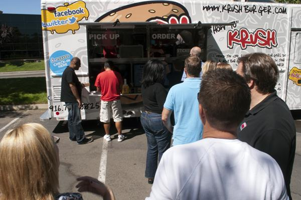 Krush Burger, formerly called Mini Burger, draws in a large crowd during lunch hours.