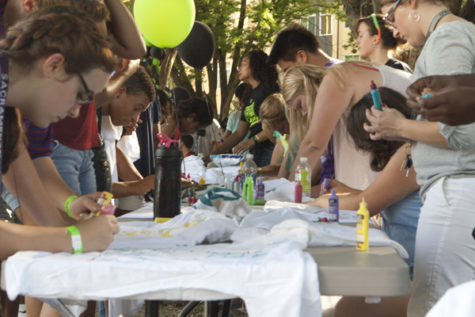 Sac State students design their very own shirts at Block Party 2012 as a way to artistically express who they are.