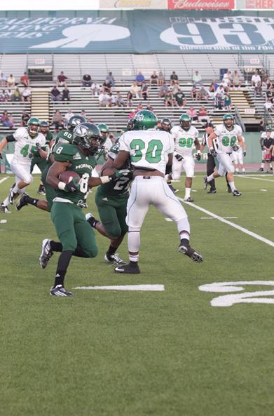 Sacramento State junior running back Ezekiel Graham runs for the endzone in its loss against North Dakota on Saturday.