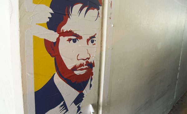 A decal Filipino boxer and congressman Manny Pacquiao found in Parking Structure II.