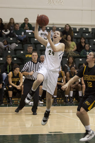 Kuhns sets school record as women's basketball takes down Utah Valley
