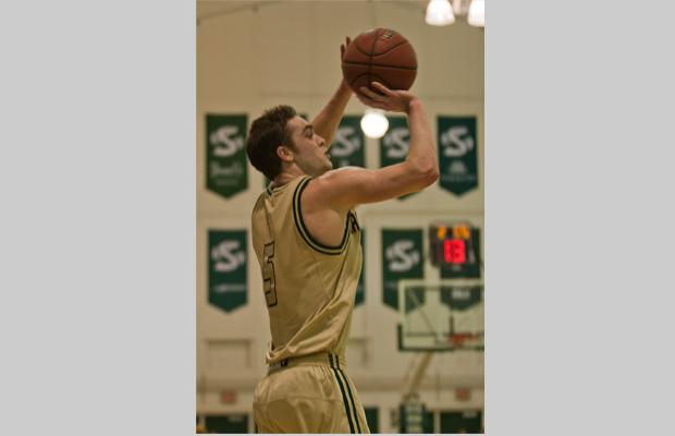 Hornet sophomore guard No. 5, Dylan Garrity, had nine assists against the Bears in the Nest on Saturday.