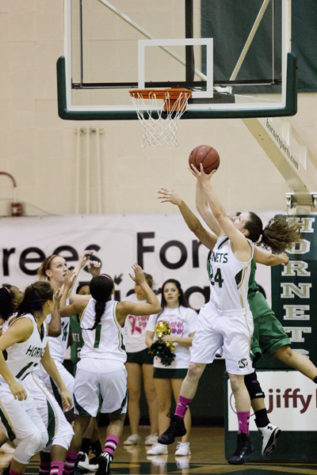 Hornet senior forward No. 24 Kylie Kuhns captured her 12th double-double on the season as she finished with 14 points and 13 rebounds in her team's win against Northern Arizona.