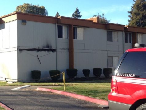 There was damage to at least one apartment at The Villas at La Riviera after a small explosion.