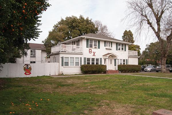 The Theta Chi frat house is one of the many fraternity houses around the UC Davis campus.