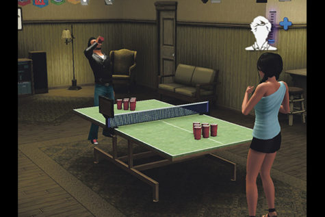 Since Sims can now go to college, they can indulge in the many party games real college students participate in.