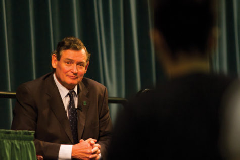 Timothy White, CSU Chancellor, visited Sac State campus