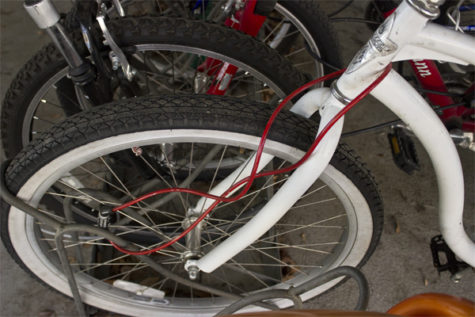 Police Cheif Mark M. Iwasa says that many students who have their bicycles stolen use locks that are not efficient enough to keep theifs from stealing them on Mar. 5, 2013.
