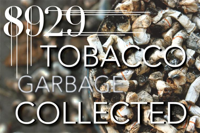 Sac State students spent four hours collecting tobacco waste and hauled in 8,929 pieces of waste.