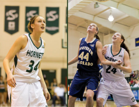 Seniors Megan Kritscher and Kylie Kuhns set Big Sky Conference records in single season blocks and career rebounds respectively during their 63-57 win at Weber State on Thursday.
