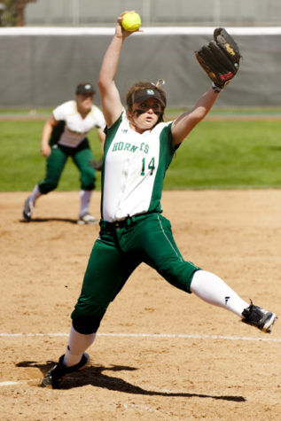 Hornet junior pitcher No. 14, Taylor Stroud, pitches a complete game shut out of the University of Nevada Wednesday that included seven strikeouts.