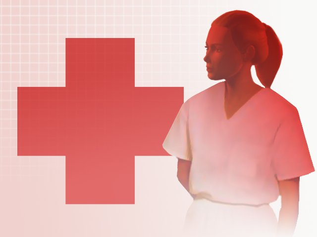 Graphic for use with stories about nurses.