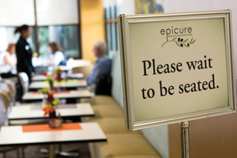 Epicure Restaurant at Sacramento State offers dishes for vegetarian and vegan diners such as the vegetable muffuletta and the black bean burger served with French-fried onion strings.