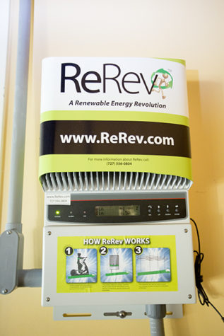 ReRev is the system being used by The Well and SMUD to convert human energy in to electricity. Currently, 19 machines at The Well are using the system.