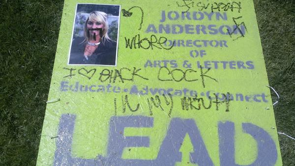 Vandalism on campus makes personal attacks on ASI candidate