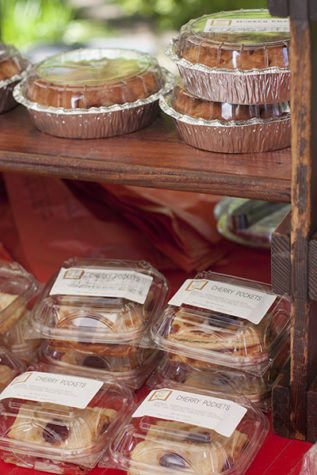 Among the variety of fruits and veggies, the farmers' market even sold baked goods.
