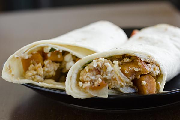 When you have a hangover, try to steer yourself away from greasy or fatty foods such as burgers, pizza or fried foods. Instead, take the healthier route and try this scrumptious breakfast burrito. Almost all of the ingredients in this breakfast burrito help curb the symptoms of a hangover.