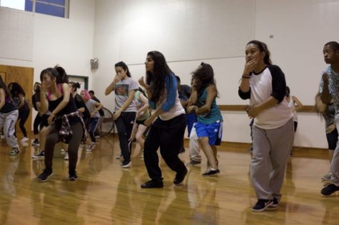 Members of Sac Modern are practicing their hip-hop dance moves at the group's workshop.