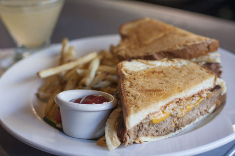 A visit to Ink wouldn't be complete without trying the famous meatloaf sandwich topped with cheese, crispy onions and topped with a crispy parmesan bread.